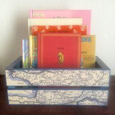 Nautical Nursery Storage Box World by EthelsGranddaughter on Etsy