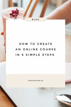 How to create an online course in 6 simple steps // Steph Taylor -- Business Marketing, Business Tips, Content Marketing, Online Marketing, Online Business, Business Launch, Media Marketing, Importance Of Time Management, Startup