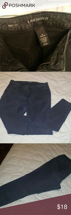 👖HOT!!👖Lane bryant 18 skinny jeans. Lane bryant black skinny jeans 18 Regular. Plus size.  These jeans will show off your curves!  Mine are slightly faded in comparison to the model pic but they are still in great condition. Lane Bryant Jeans Skinny