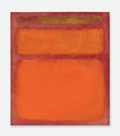 Mark Rothko, Orange, Red, Yellow, Oil on Canvas, 1961, Abstract Expressionism, 1946-1971