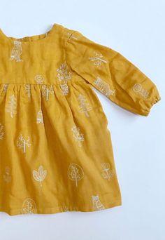 Double Cotton Gauze With Owl Embroidery   EddieandBee on Etsy #handmadekids