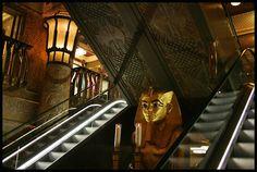 Harrods in London  Egyptian Halls/escalators