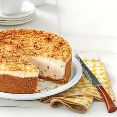 Butter Pecan Cheesecake Recipe -Fall always makes me yearn for this pecan cheesecake, but it's delicious any time of year. You'll want to put it on your list of favorite holiday desserts.—Laura Sylvester, Mechanicsville, Virginia