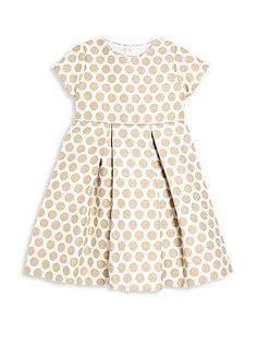 Anavini Toddler's & Little Girl's Jacquard Polka Dot Fit-&-Fla