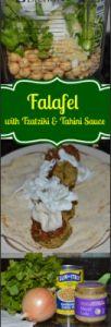 Falafel with Tzatziki and Tahini Sauce #poweredbybling #meatlessmonday