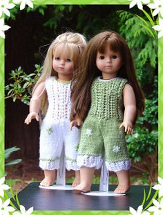 Kiah, PDF Doll Clothes a lace detailed jump suit knitting pattern for American Girl Dolls & Gotz Dolls by Debonair Designs Knitting Dolls Clothes, Crochet Doll Clothes, Knitted Dolls, Girl Doll Clothes, Pixie, Diy Vetement, Gotz Dolls, American Girl Clothes, American Dolls