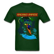 Whitewater rapids enthusiasts will enjoy this Raging Rapids Men's T-Shirt...