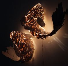 This could have been 3D printed. Gagosian Gallery - Frank Gehry Fish Lamps