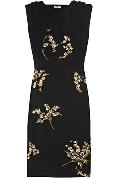 Miu Miu | Embellished crepe dress | NET-A-PORTER