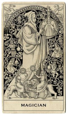 The origins of the Tarot are surrounded with myth and lore. The Tarot has been thought to come from places like India, Egypt, China and Morocco. Others say the Tarot was brought to us fr The Magician Tarot, Tarot Tattoo, Hopeless Fountain Kingdom, Tarot Gratis, Esoteric Art, Arte Obscura, Tarot Learning, Occult Art, Mystique