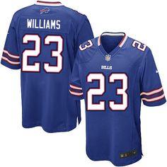 Nike Limited NFL Jersey Blue Youth Aaron Williams Jersey Buffalo Bills #23 Jersey Sale