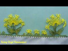Bahar çiçekleri iğne oyası modeli ve Yapılışı - YouTube