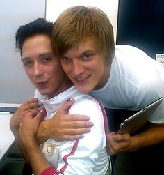 Johnny Weir and Tomáš Verner.
