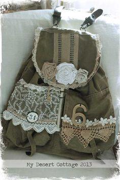 Upcycled Army Bag