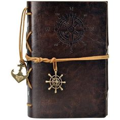 Travel Vintage Journal, Pu Leather Cover Blank Notebook ($5.49) ❤ liked on Polyvore featuring home, home decor and stationery