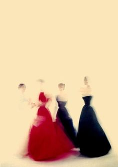 Flour ladies blurry Photo by by Clifford Coffin for Vogue