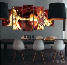 4th Hokage and Naruto Canvas