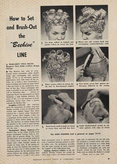Margaret Vinci Heldt ( February 1918 - June 13 is credited with having invented the towering hairstyle that came to define the the Beehive. 1960 Hairstyles, Vintage Hairstyles, Hairdos, 1960s Hair, Wet Set, Beehive Hair, Roller Set, Hair Raising, Up Girl