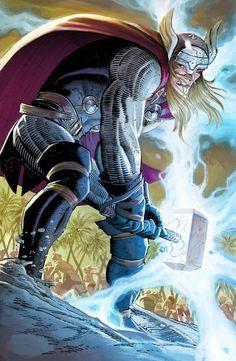 Thor by John Romita Jr. Marvel Comics, Marvel Heroes, Marvel Characters, Wolverine Comics, Rogue Comics, Comic Book Artists, Comic Artist, Comic Books Art, Jack Kirby