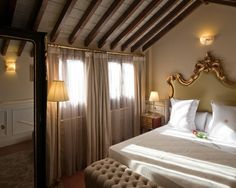 Fine hardwood furniture decorated by hand, enveloping Egyptian-cotton sheets... Hotel Casa 1800 #Granada #1800reasons