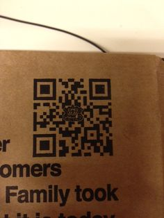 Yep, there's a QR Code on my pizza box! Great way to make packaging interactive.