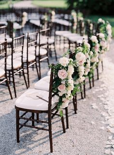Wedding floral details - Elegant Real Destination Wedding in Italy - Photo: Victoria Phipps Photography