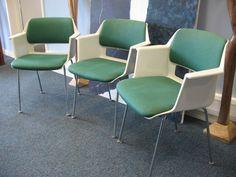2X Dutch Gispen 'P5' Chair #classic #retro #minimal #look #gispen #green #chairs #threesacrowd #design #vintage #retro #euvintage