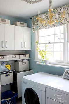 bright amp cheery laundry room, laundry room mud room, Super flexible storage with Flow Wall Everything can be lifted off and moved in seconds