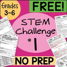 Students LOVE these! This STEM Challenge is easy to follow and comes in 3 different options. It follows the STEM process skills and allows students to ASK, IMAGINE, PLAN & CREATE, IMPROVE, COMMUNICATE, and REFLECT.This challenge is also found here: 36 STEM Challenges BUNDLE for huge savings at just 50 cents a challenge!Use this for meeting the NGSS standards, or for an extra reward day after a big test or end of unit.