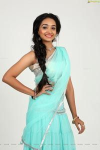 Exclusive HD Photos - Meghna Mandumala in Half Saree