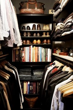 A closet with a resource library--schooled.
