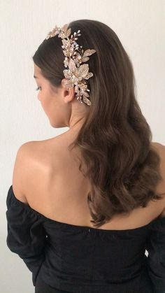 Hairdo by Marianne Roza for The Beautiful Brideshop Bride Hairstyles, Down Hairstyles, Easy Hairstyles, Half Up Half Down Hair, Half Updo, Hair Raising, Bridesmaid Hair, Updos, Hair Makeup