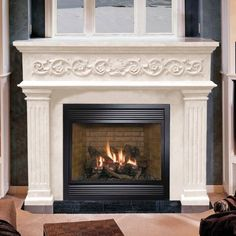 If you are looking to give your room a focal point or something to highlight it, look no further than the fireplace mantel that's already there. Many tend to leave their fireplace mantels bar… Farmhouse Fireplace Mantels, Cast Stone Fireplace, Fireplace Mantel Surrounds, Fireplace Shelves, Home Fireplace, Fireplace Remodel, Marble Fireplaces, Fireplace Design, Marble Fireplace Mantel