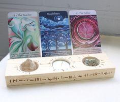 Black Swan Inn, Wooden Crafts, Diy Crafts, Crystal Holder, Deck Box, Affirmation Cards, Crystal Grid, Tarot Cards, Handmade Wooden