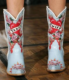 tswift's cowboy boots. I kind of love these
