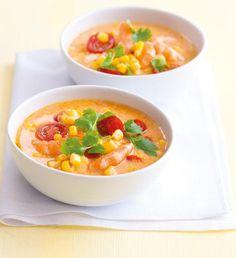 Thajská polévka z červené čočky a batátů   Recepty Albert Cheeseburger Chowder, Cantaloupe, Soup, Fruit, The Fruit, Soups, Chowder