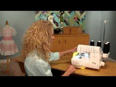 Baby Lock Enlighten Serger tutorial with Pam Mahshie. gather and ruffle in one step