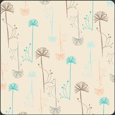 Almond Wispy Seedheads by Art Gallery Fabrics - 1/2 Yard - Cotton - Aqua Fabric - Modern Fabric - Aqua and Brown - Modern Floral Fabric. $5.25, via Etsy.