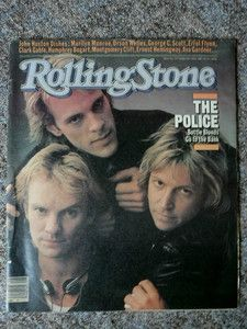 The Police, 1981 - Rolling Stone cover
