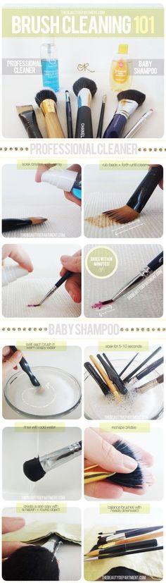 How to Wash Your Makeup Brushes, check it out at http://makeuptutorials.com/makeup-brushes-101-makeup-tutorials
