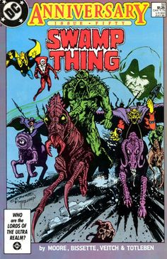 The cover to Swamp Thing #50, art by Stephen Bissette & John Totleben