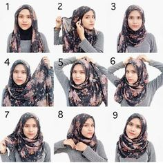 Beautiful Floral Hijab Tutorial Are you a fan of simplicity and of course beauty? look no further, this hijab tutorial is so simple, elegant and beautiful using this gorgeous floral hijab, a perfect pick for this season. Check out the steps to this look:… Square Hijab Tutorial, Pashmina Hijab Tutorial, Hijab Style Tutorial, Simple Hijab Tutorial, Casual Hijab Outfit, Ootd Hijab, Hijab Chic, Hijab Tutorial Segi Empat, How To Wear Hijab