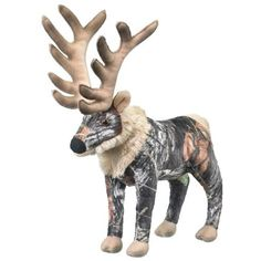 1 X CamoWild Mossy Oak Break-Up Elk (9.5-inch) * See this great product. (This is an affiliate link) #StuffedAnimalsPlushToys