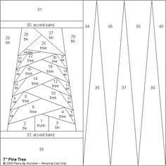 Pine Tree Paper Pieced Quilt Pattern Bloquear