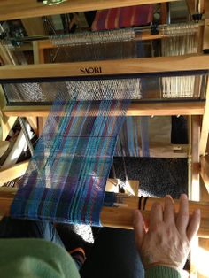 CENTERING WITH FIBER: Saori warping frame, threading and cross holder , and wx60 folding loom