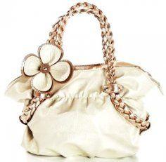 Cute Flower Shoulder Bags for Women - White Flower Shoulder Bags for Women