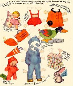 Kewpie paper doll clothes