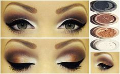 Frosty brown eyes White Eyeliner Makeup brown eyes frosty White Eyeliner Makeup, Thin Eyeliner, Dark Skin Makeup, Makeup For Brown Eyes, Eye Makeup, Make Your Own Makeup, How To Apply Makeup, Colorful Makeup, Simple Makeup