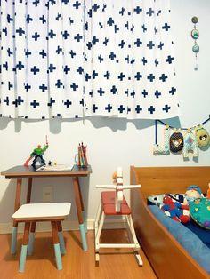 Quarto infantil  Mesa de pintar  Decor escandiva