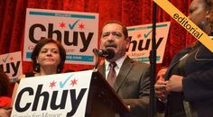 """The Defeat of 'Chuy' Garcia  A pretty good dissection of Chuy Garcia's runoff loss. There are two things to note: one is that nether Garcia in the runoff, nor Emanuel in the general election received enugh votes from the Black community to make a duffenrence; another thig is the idea that Latino voters """"are not decisive on their own.""""  It's a harsh diagnosis."""